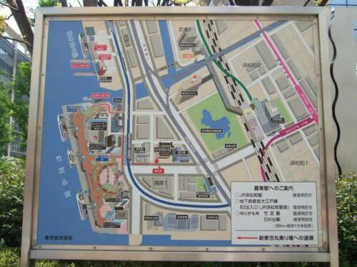 竹芝界隈地図