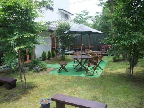 ガーデンパーティーができる庭