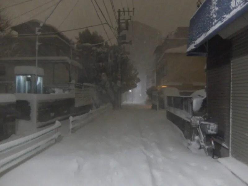 大雪の東京