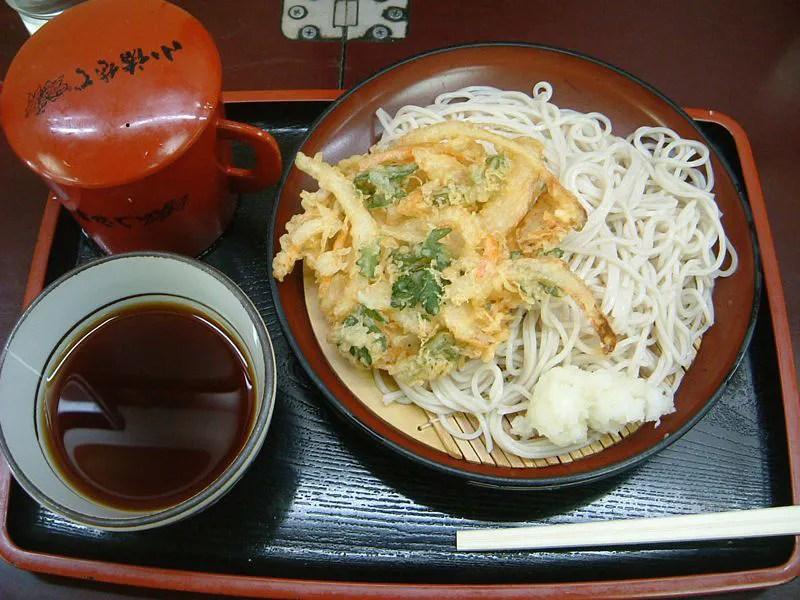 天ぷらと蕎麦を食べよう