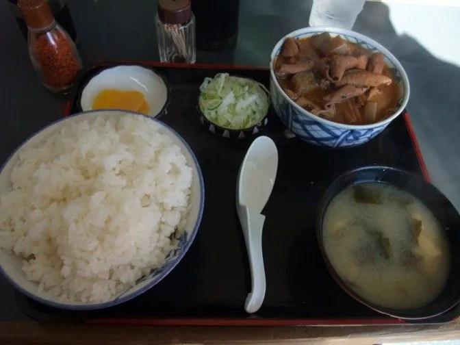 もつ煮定食(もつ大)