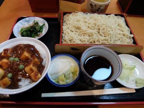 中華もりと麻婆豆腐丼