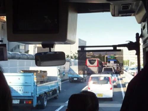 中央高速渋滞中