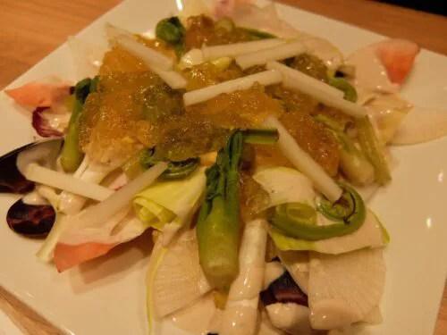 春の山菜サラダ