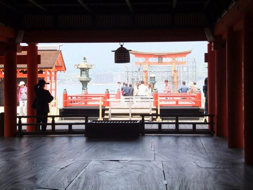 厳島神社から大鳥居