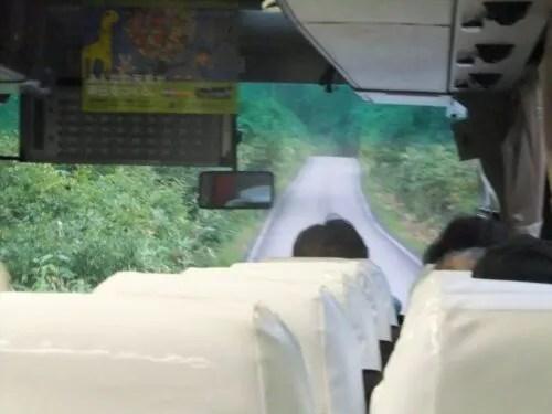 沼山峠への道