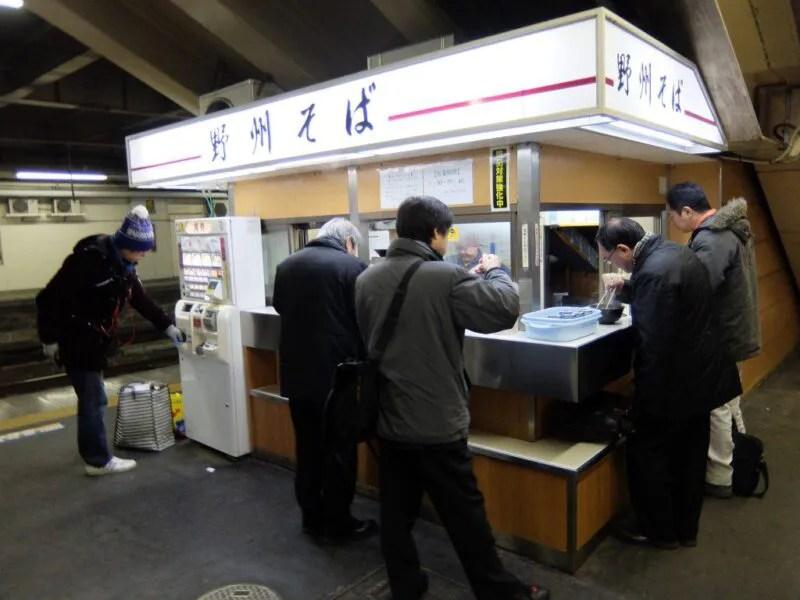 宇都宮駅の立ち食い蕎麦