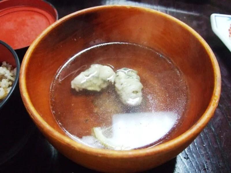 牡蠣吸い物