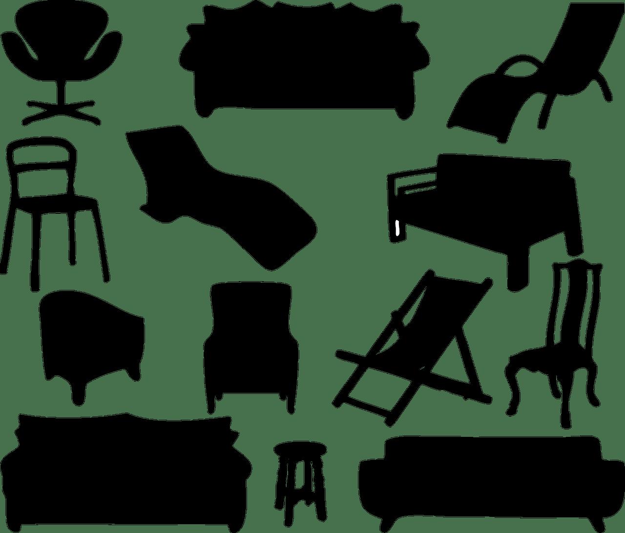 家具シルエット