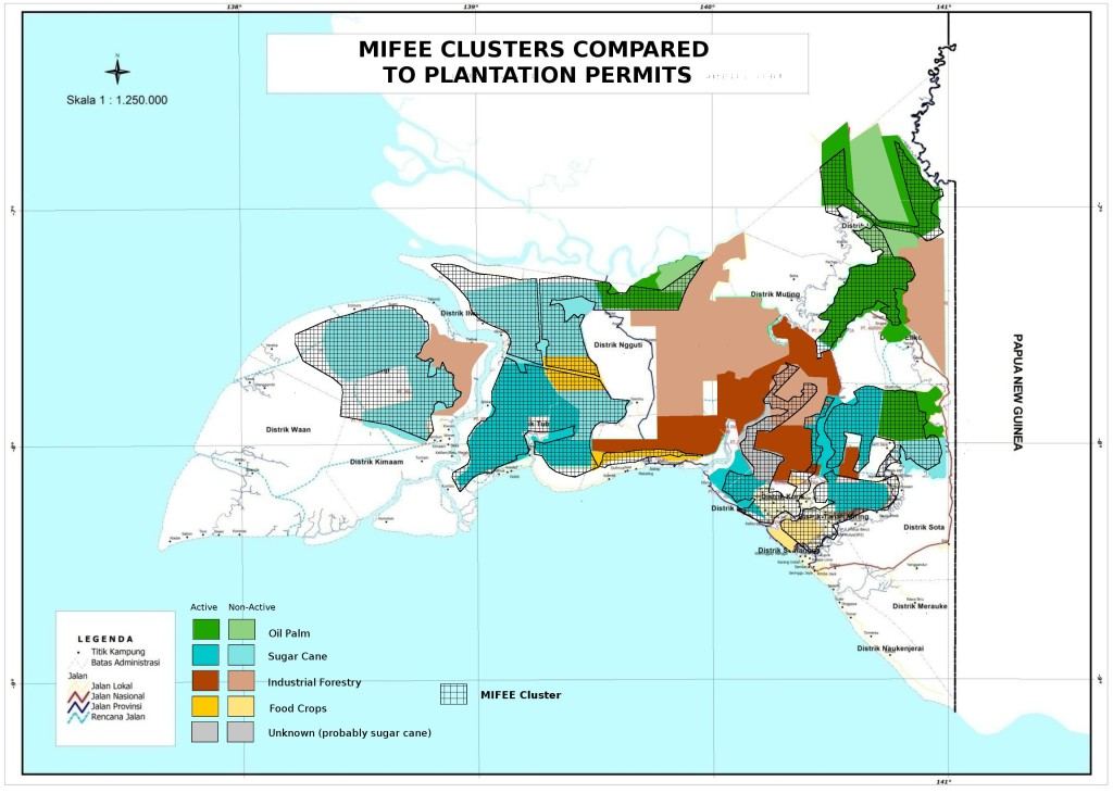 mifee clusters compared to plantation permits
