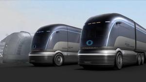 Hyundai dévoile un camion commercial futuriste à pile à combustible à hydrogène