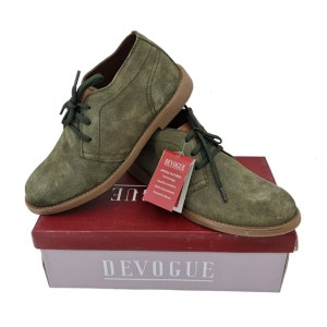 Devogue Mens leather suede Boot Olive