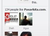 contoh like box fans page milik pasarkita.com