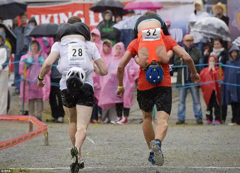 Wife Carrying Competition - Weird Things to do in Europe