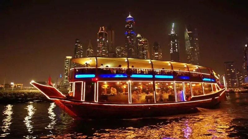 dhow cruise creek - Things to do in Dubai with family - Dubai Travel Guide