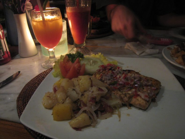 Delicious dinner in central Ubud, Bali