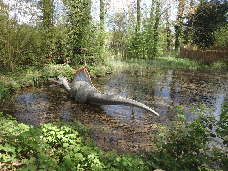 Dinosaur at Jurassic Journey, Birdland, Great Cotswolds Day Out with the Kids