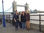 CanadiAnne, Kiwi, me and Leacy outside the Tower.