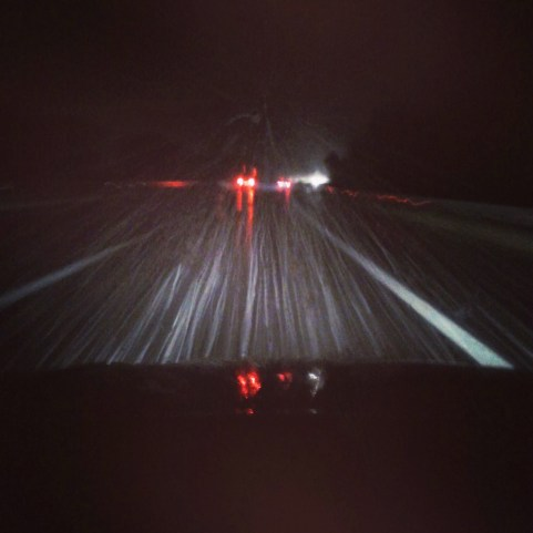 It was stormweather on the way to Innsbruck