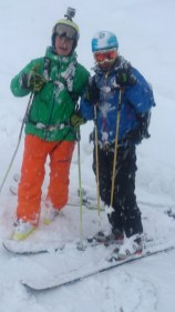 Gašper and Myself after the first run of the day