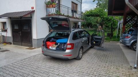 Picking up Jan at Gorenjska in north west Slovenia.
