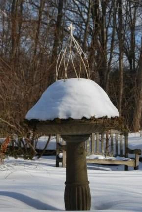 birdbath iced over