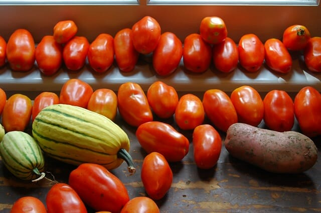 produce on windowsill