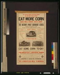 vintage eat corn poster