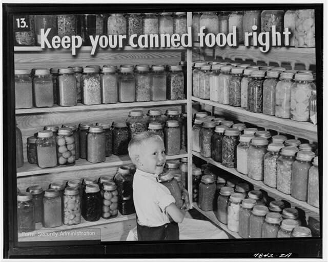 1940 FSA canning jar clide