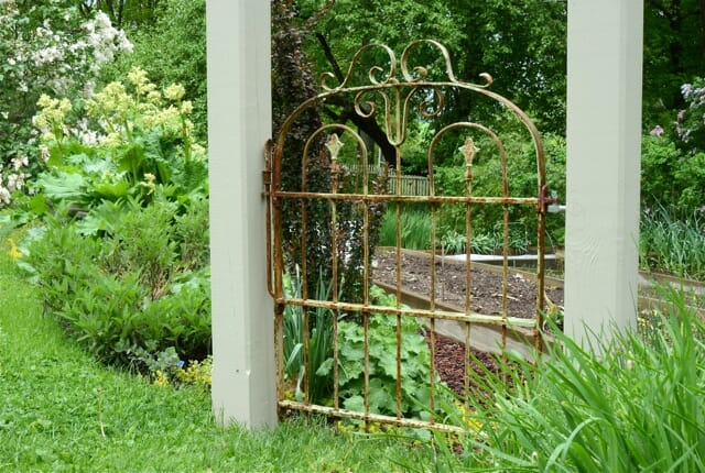 Garden Gate Entry Whimsical Fun Homemade Artistic With Steps Of
