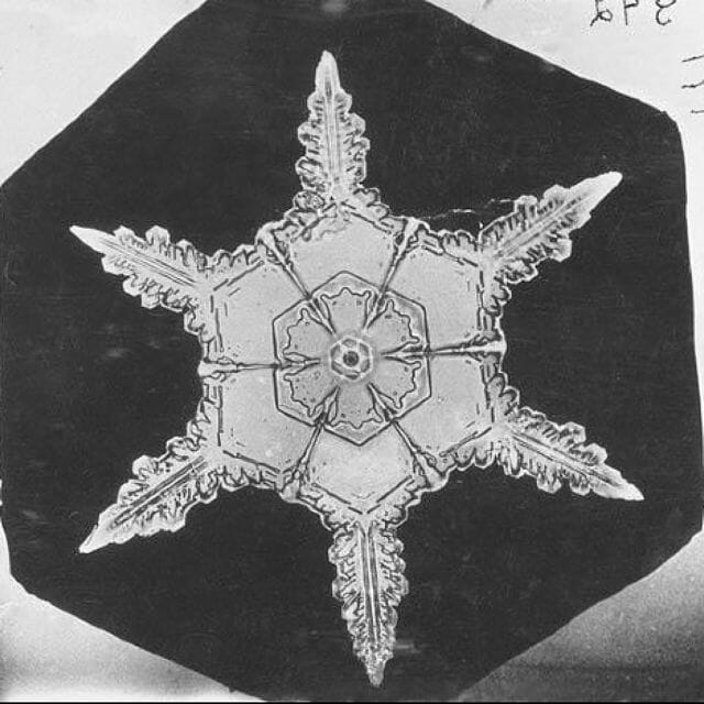 Alwyn Bentley snowflake photo from Smithsonian