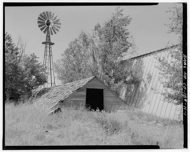 Historic root cellar in Yuma County, CO