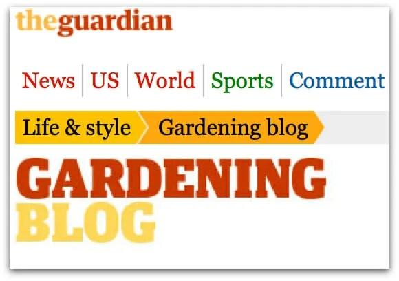 The Guardian newspaper garden blog logo