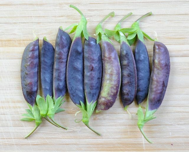 how to cook purple snap peas