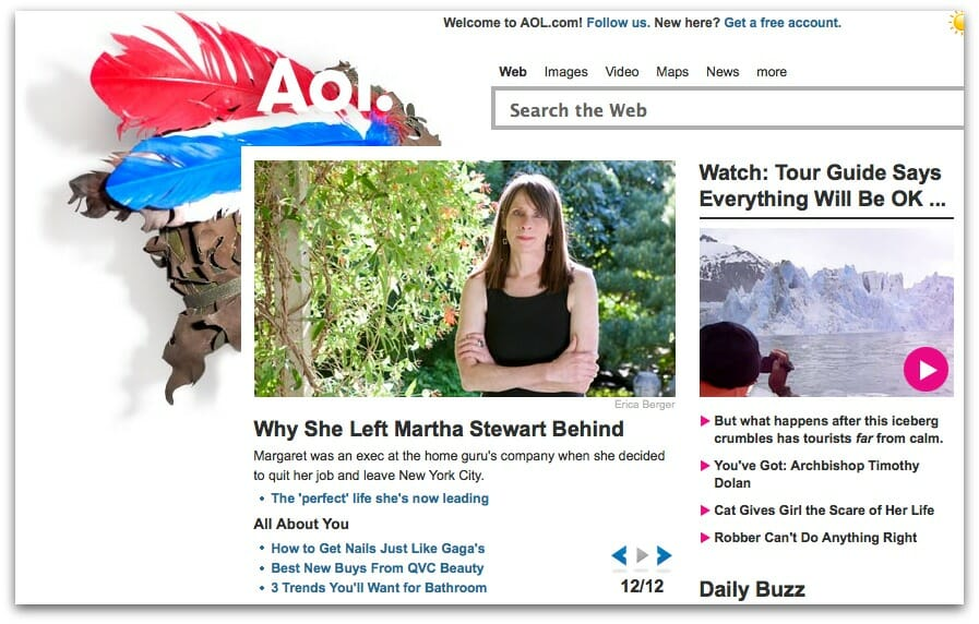 Margaret Roach on AOL homepage