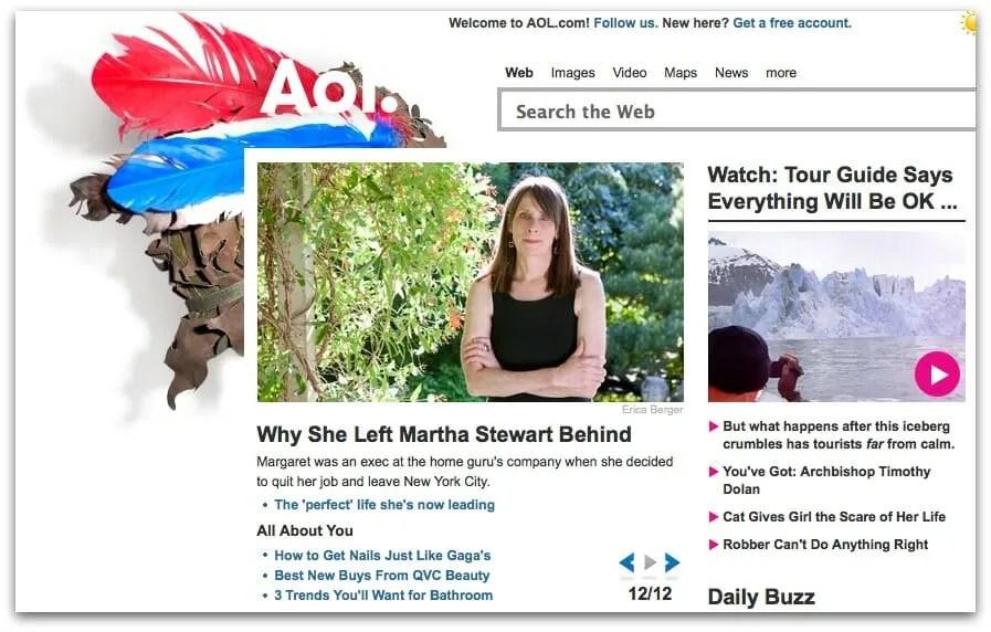 Margaret Roach on AOL homepage