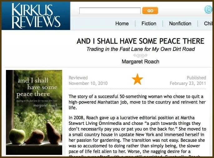Margaret Roach memoir in Kirkus Review