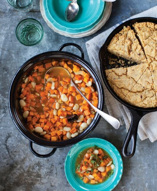 Sweet Potato and Lima Bean Tagine--Credit Paige Green.