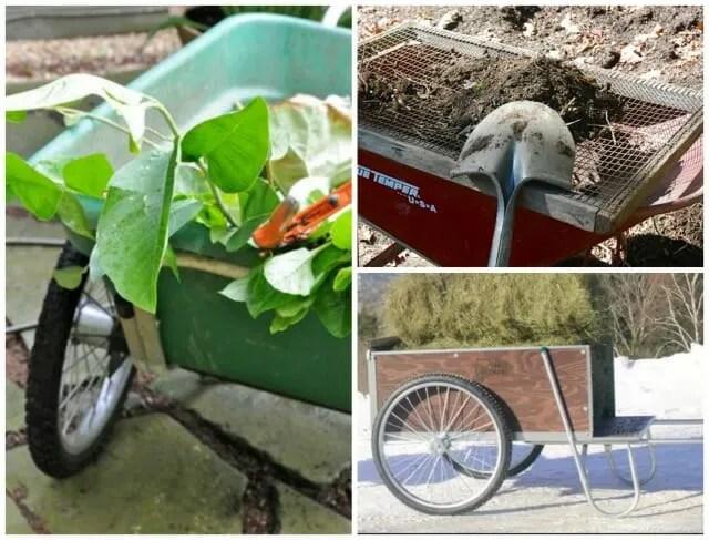 garden cart or wheeelbarrow