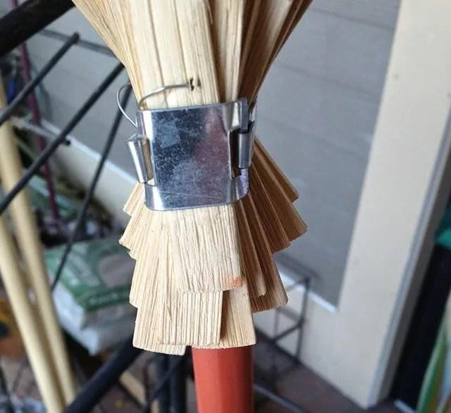 strap on bamboo rake