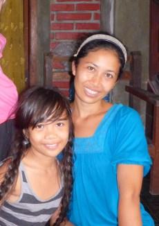 We love our Balinese neighbors, Kadek and her daughter, Putu.
