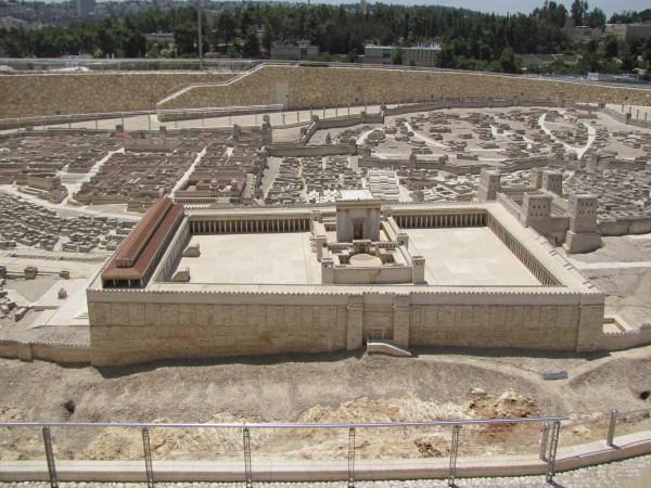 Second Temple Model Israel Museum Jerusalem