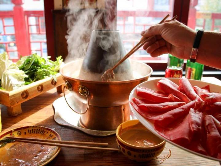 Eating as much hotpot as we can during three days in Beijing.