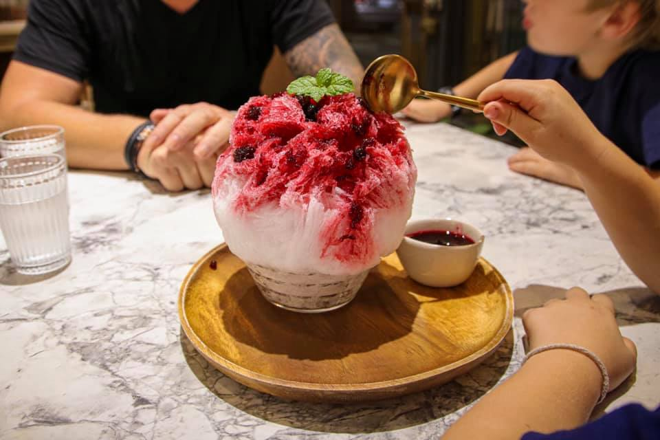 Shaved ice dessert in Taiwan.