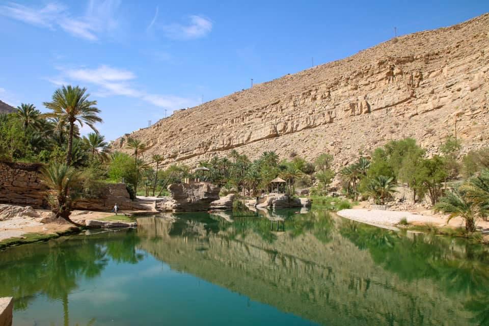 Beautiful view of Wadi Bani Khalid, Oman.
