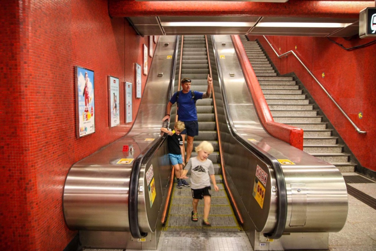 Using the metro system in Hong Kong with kids.