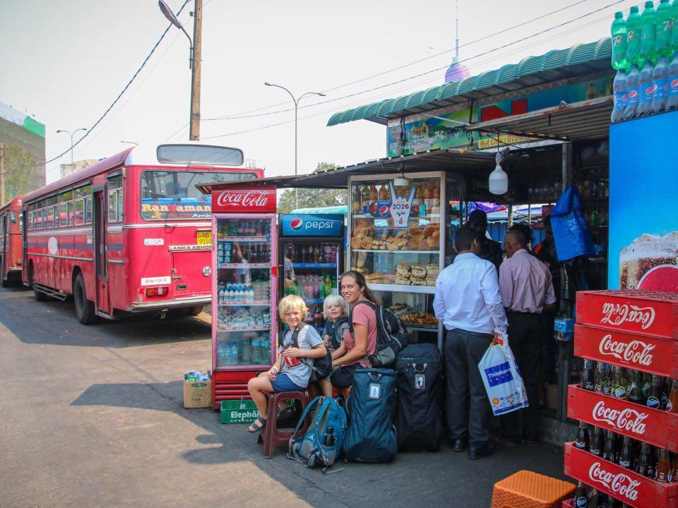 Bus travel. Sri Lanka with kids itinerary.