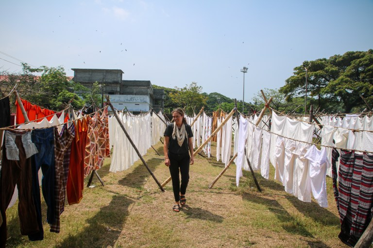Visiting the public laundry in Kochi during our five days in Kerala.