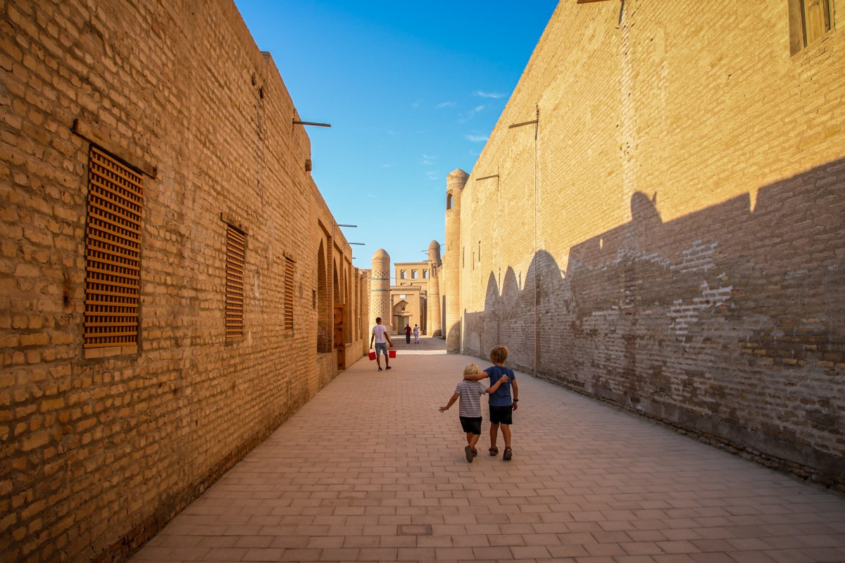Sunset in the beautiful Silk Road city of Khiva.
