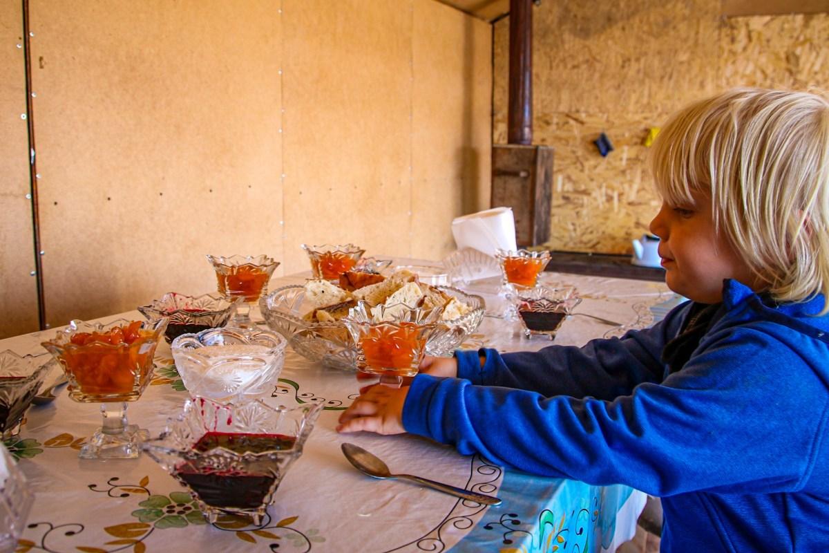 Image showing food in yurt stay, Song Kol Lake.